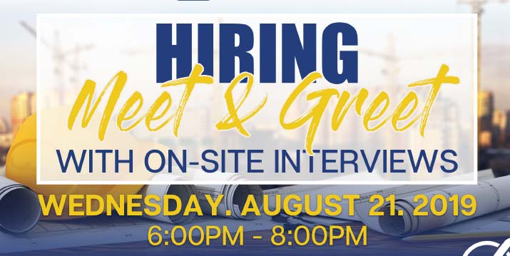 Hiring Meet and Greet Announcement